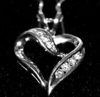 For that special Valentine!!  10k Gold and Diamond Heart Pendant