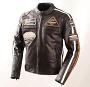 Motorradlederjacke
