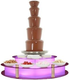 Chocolate fountain, throne chairs, donut van,led dance floor, selfie mirror, led backdrop, hog roast