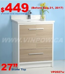 Bathroom Vanities from $109- Faucets from $59.