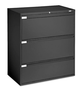 Lateral File Cabinets - Black (11) and Beige (1)