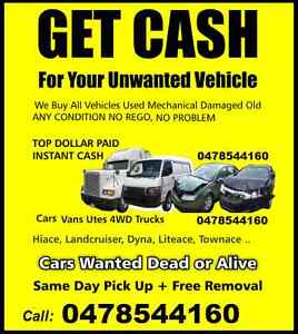 $$ CASH FOR CARS $$ UNWANTED, OUT OF REGO,DAMAGED YOU NAME IT. Liverpool Liverpool Area Preview