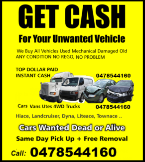 $$ Cash For Unwanted Cars $$