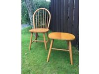 £10 each - John Lewis dining chairs(6) and stool