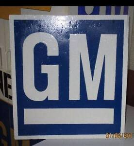 SMALL GM SIGN.