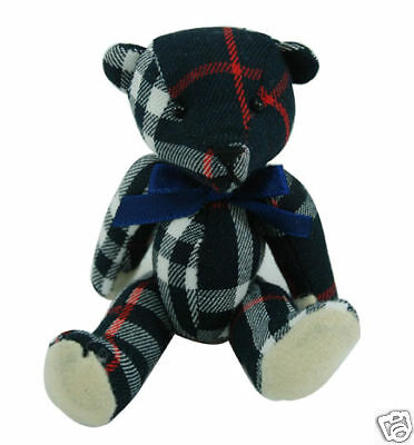 - Hand-made Tartan Mini Teddy Bear Collection (Navy)