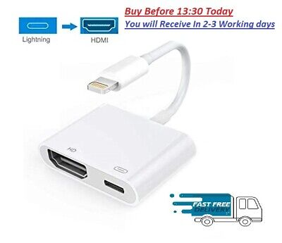 Lighting/iPhone to HDMI cable/adapter AV to TV 1080P USB Charger For 11 X XR XS