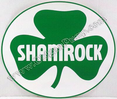 Shamrock Gasoline 11 Vinyl Gas Pump Decal Dc-205