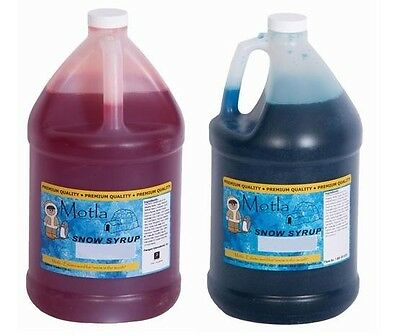 Snow Cone Syrup 2-one Gallon Jugs Of Motla Syrup For Snow Cone Machines