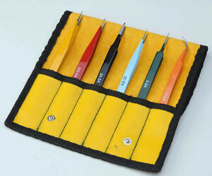Aven Electronics Precision Tweezers Ez-Pik 6pc set
