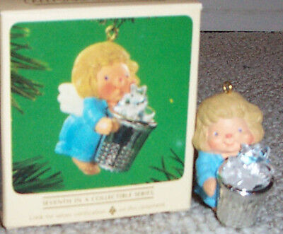 New in Box! Rare! 1984 Thimble Angel ~Vintage Hallmark Christmas Ornament