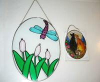 Petits vitrails 1$+. Miroir, poisson, étoile de mer pour le mur