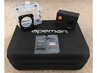 APEMAN Sports Action Camera 12MP HD 1080P Waterproof Cam 170 Ultra Wide-Angle Lens & Carrying Case