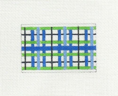 Danji / Elle B Blue & Green Insert 58 Handpainted Needlepoint Canvas DD