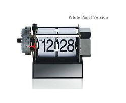 Stainless Auto Flip Desk Clock Retro Style with Gear Design, Alarm Clock
