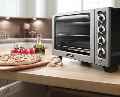 KitchenAid KCO222cs Countertop Oven Silver Toaster pizza Oven Bake Broil