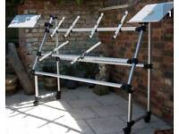 Jaspers A frame keyboard stand with laptop add ons
