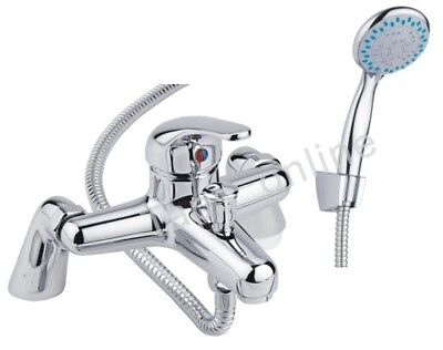 New Chrome Modern Bathroom Taps Bath Filler Shower Mixer Tap with Hand Held