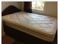 Double divan bed and mattress. Free local delivery.