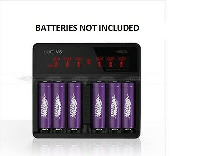EFEST V6 LUC UNIVERSAL LCD CHARGER For 18650 1850014500 18350 16340 10440 3.7v