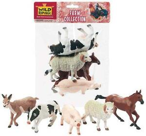 NEW Toy FARM Animal Model Figurine - 5 Piece Polybag 53527 Collection Horse Cow
