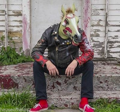 Zombie Horse Costume Party Mask Latex Halloween Dress Up Play by Accoutrements