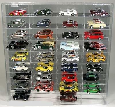 Diecast Car Wall Display Case (Wall Mount Diecast Car Display Case 1/43 Scale)