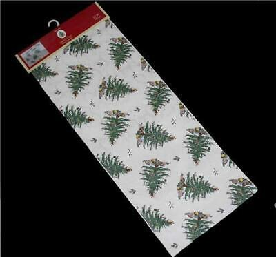 Spode Multiple CHRISTMAS TREES Damask Reversible Table Runner 14 x 72 NWT Nice