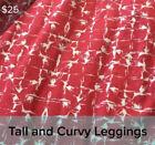Bodycon Red Leggings for Women