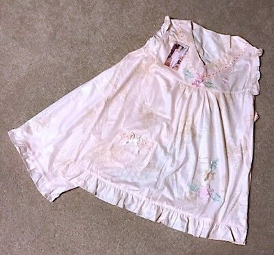 NWT Adorable Ducky Print Embroidered Feminine Pajama Set (Embroidered Print Pajama Set)
