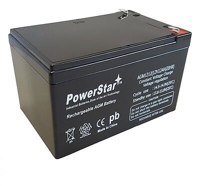 PowerStar 12V 12Ah Sealed Lead Acid (SLA) Battery Replaces BP12-12