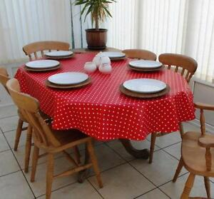 Oval Vinyl Tablecloth