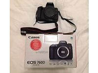 Canon 760D. Great Condition, Comes with the box and all its components inside + carrying case.
