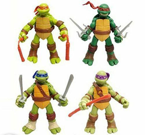 Купить Unbranded - 4 PC Set USA Teenage Mutant Ninja Turtles Classic Collection TMNT Action Figures