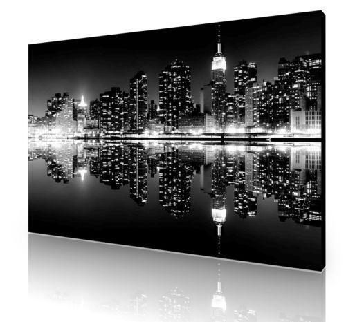 new york skyline canvas ebay. Black Bedroom Furniture Sets. Home Design Ideas