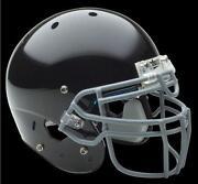 Flat Black Football Helmet