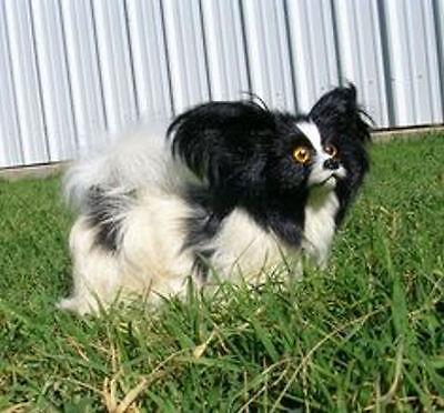 Realistic Lifelike Papillon Dog Rabbit/Goat Fur Animal D754BL