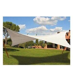 Vela tenda telo ombreggiante quadrata 5x5 mt vietri con for Tenda ombreggiante