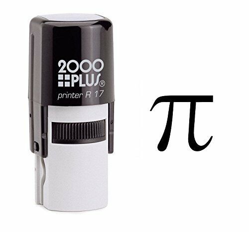 Pi Mathematical Symbol Self Inking Rubber Stamp - Black Ink (E-6370)