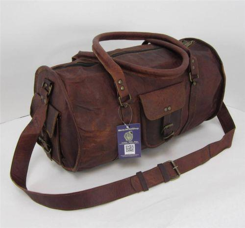 Mens Leather Vintage Duffle Bags   eBay