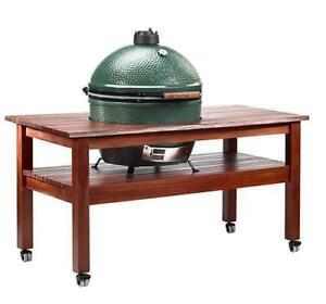 bbq big green avec table en teck négociable