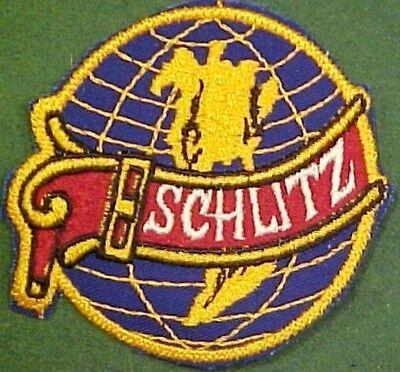 Vintage Schlitz Beer on Blue Twill Patch