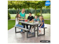Lifetime 6ft Picnic Bench / Table