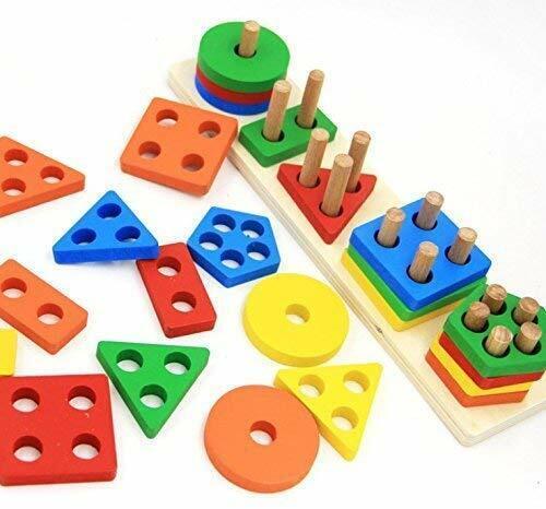 wooden educational preschool toddler toys for 1