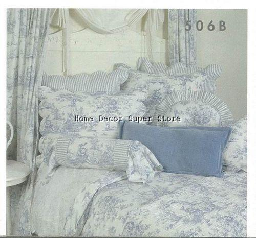 Blue Toile Queen Bedding Ebay