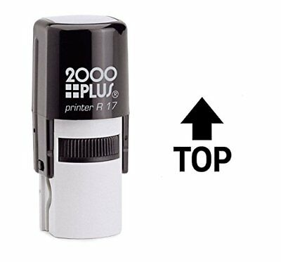 Top Arrow Self Inking Rubber Stamp - Black Ink E-6422