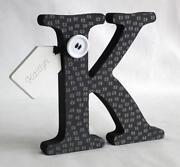 Black Wooden Letters