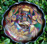"1911""NORTHWOOD""AM""CARNIVAL GLASS""PEACOCK URN""IC CRM""SET"
