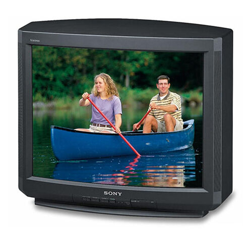 "Sony Trinitron KV-27V40 27"" Analog TV CRT Television with Matching Stand ~"