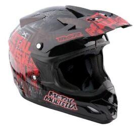 New MSR Metal Mulisha Youth Kids Motocross Helmet M 49-50cm Broadcast Sale!